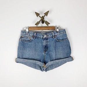 Ralph Lauren Vintage Dark Wash Denim Shorts Sz 10